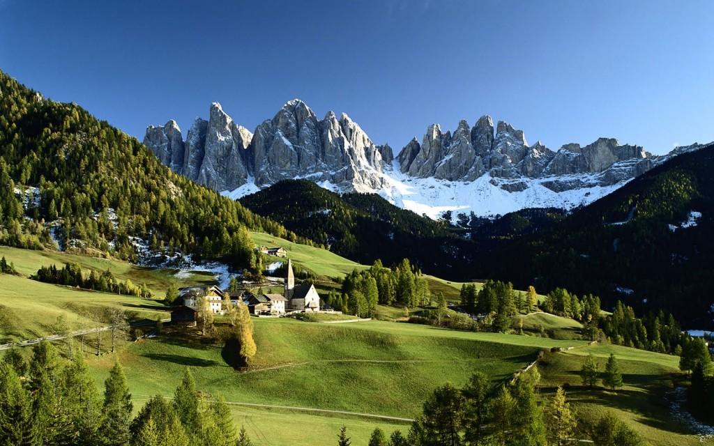 Veduta delle Dolomiti, Funes