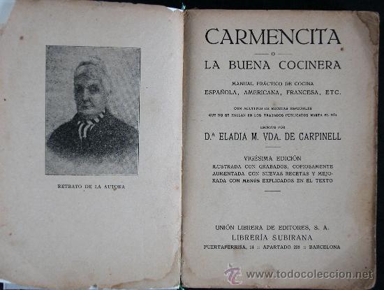 CARMENCITA LA BUENA COCINERA