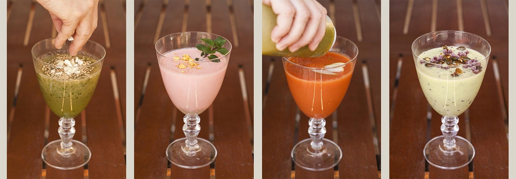 Batidos y sopas fr as con un toque de ingred ssimo - Cenas faciles para invitados ...