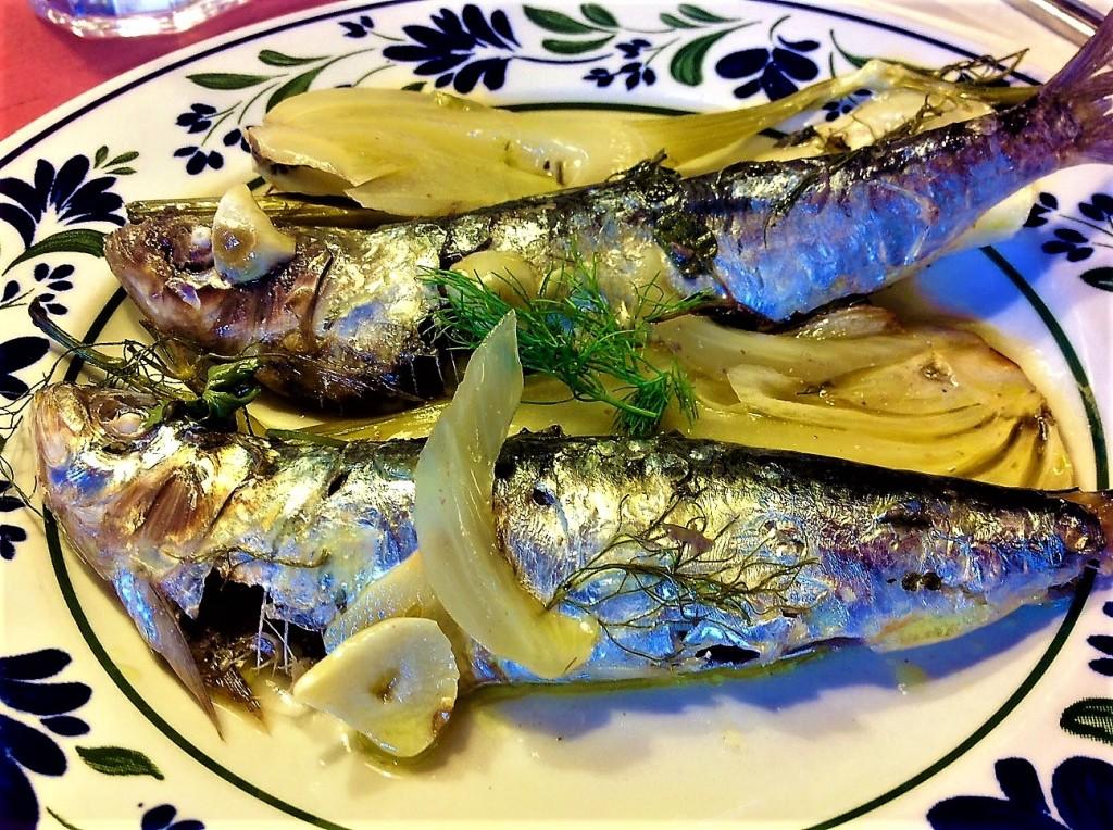 sardinas al horno con hinojo