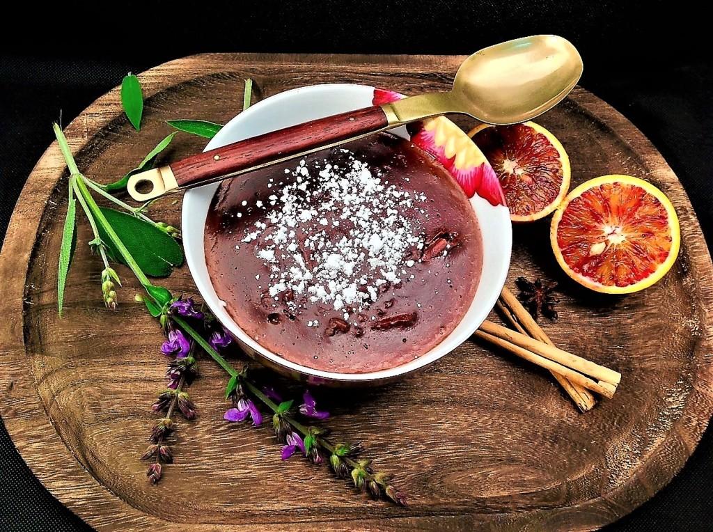 arroz con leche chcoclateada aromatizada con salvia y especias (2)