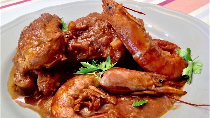 pollo con gambas 1