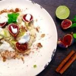 couscpous con canrela manzana ralladura de lima nueces higos agua con aceite menta y canela en rama. yogurt de menta_zpsnopfbyq5