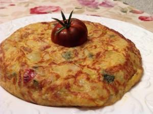 tortilla patatas sanfaina
