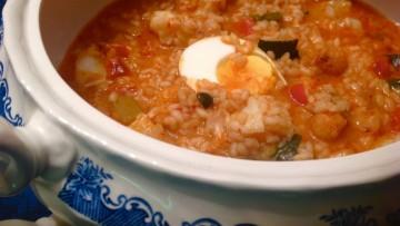 arroz caldoso de bacalao