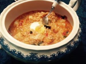 arroz verduras bacalao