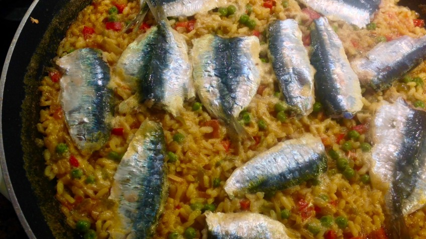 arroz de sardinas