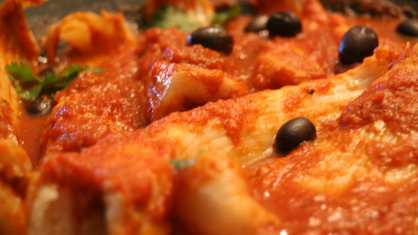 raya con tomate cazuela