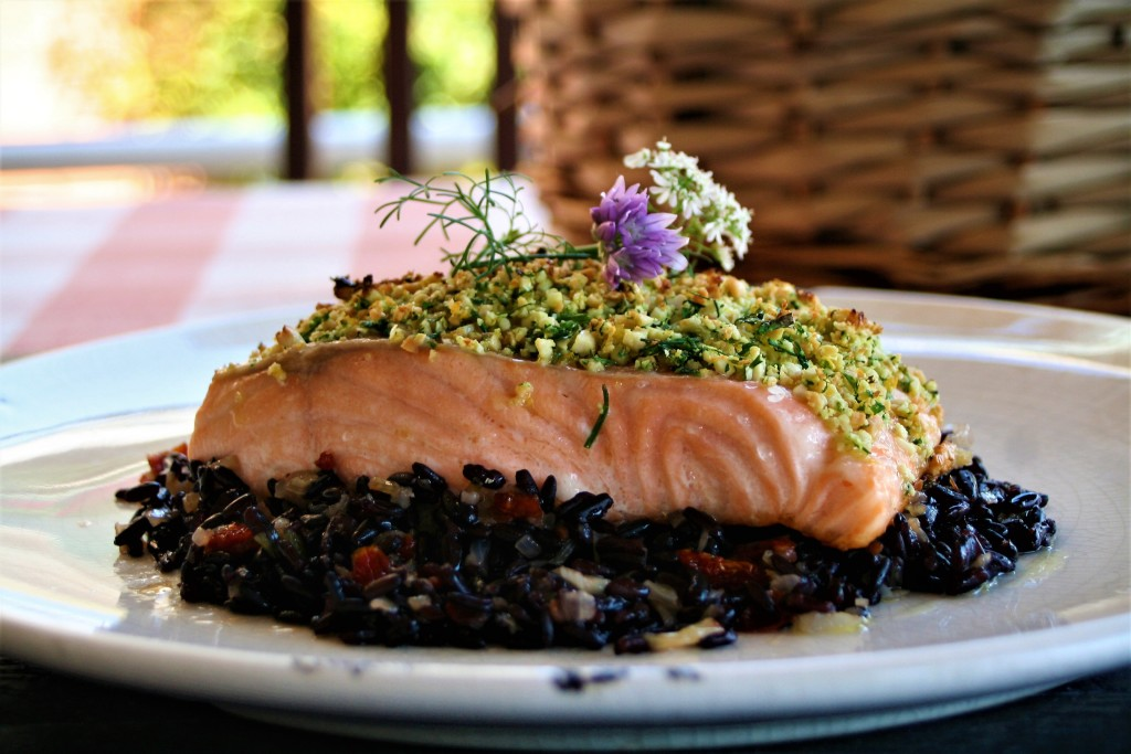 salmon y arroz