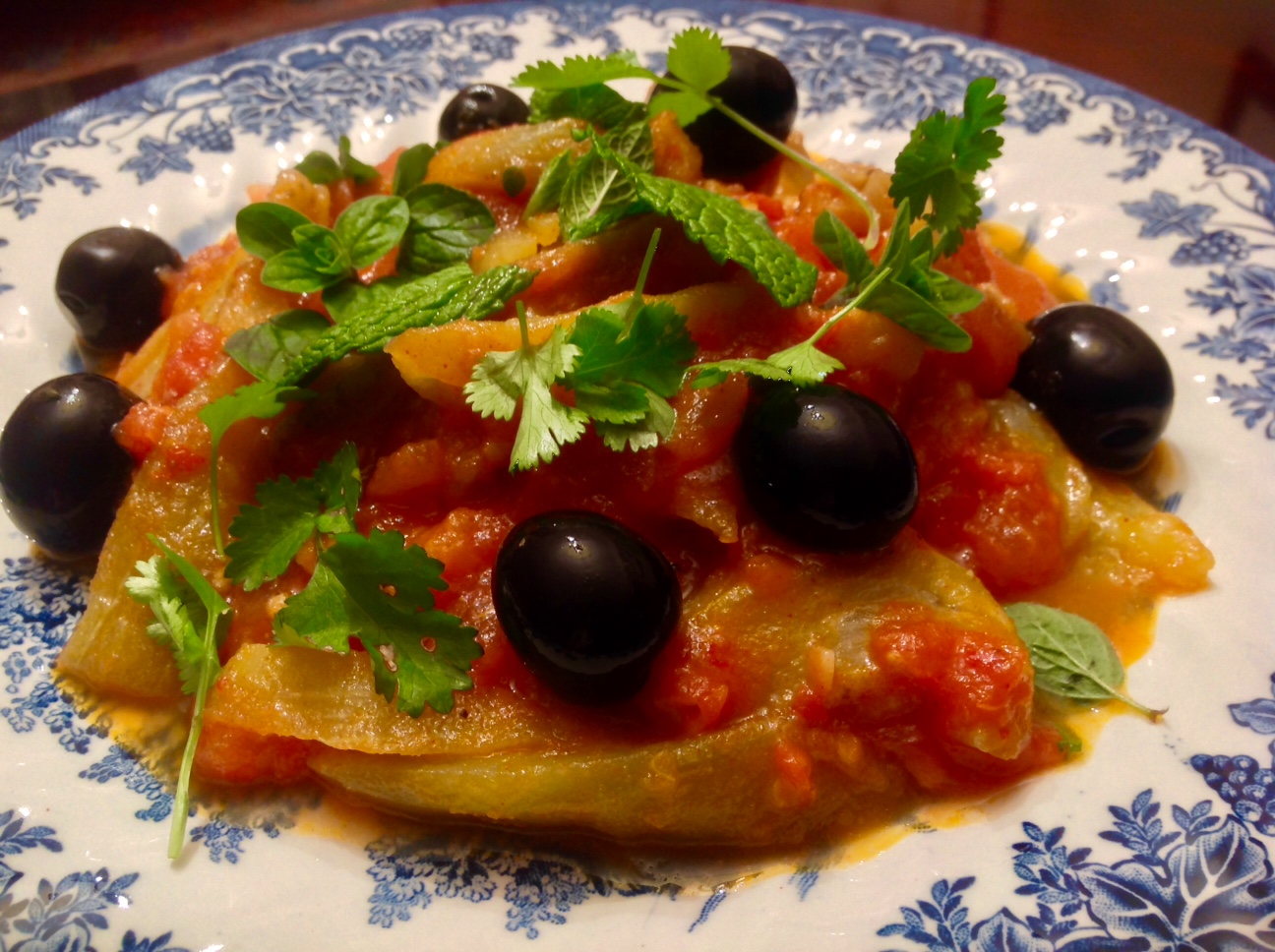 ensalda berenjenas salsa harissa