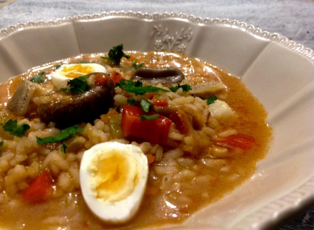 arroz caldoso bacalao