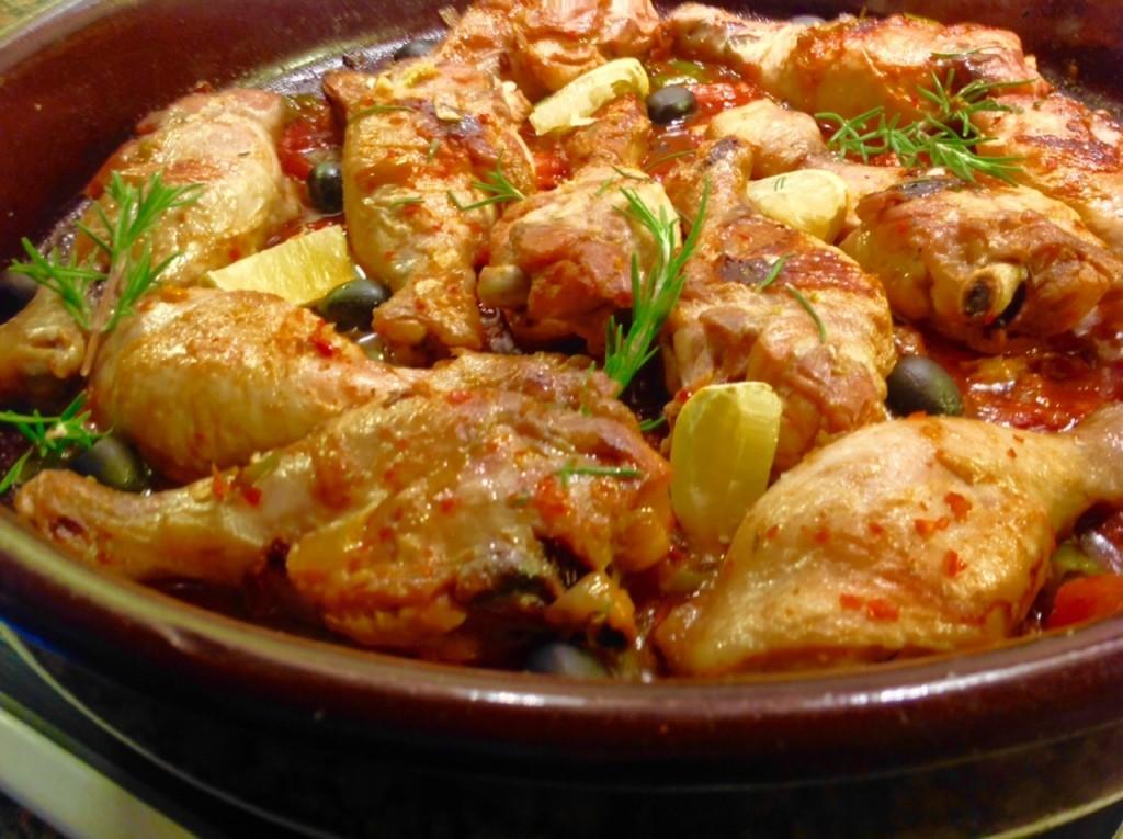 Pollo marroquí muy bien
