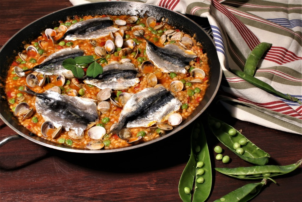 arroz sardinas muy poco