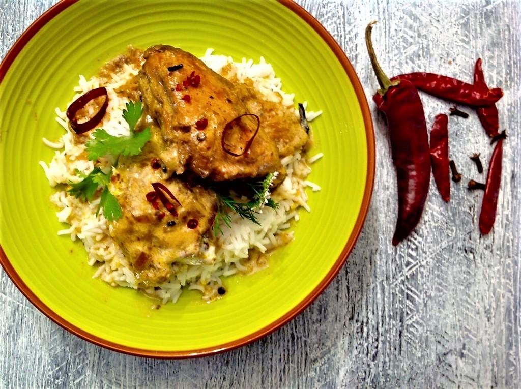 pollo curry bodegon
