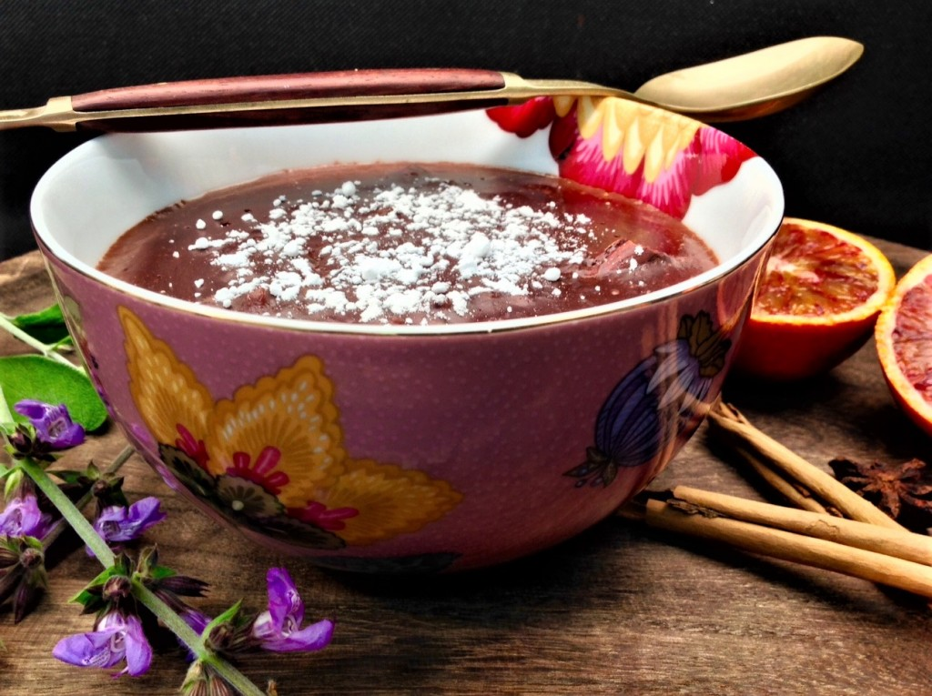 arroz con leche chocolate salvia y especias