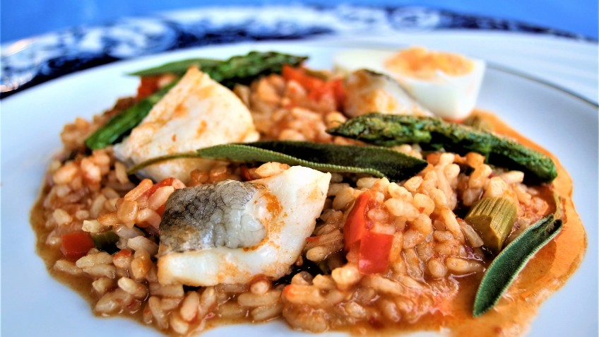 arroz de bacalao antonio plato muy bien