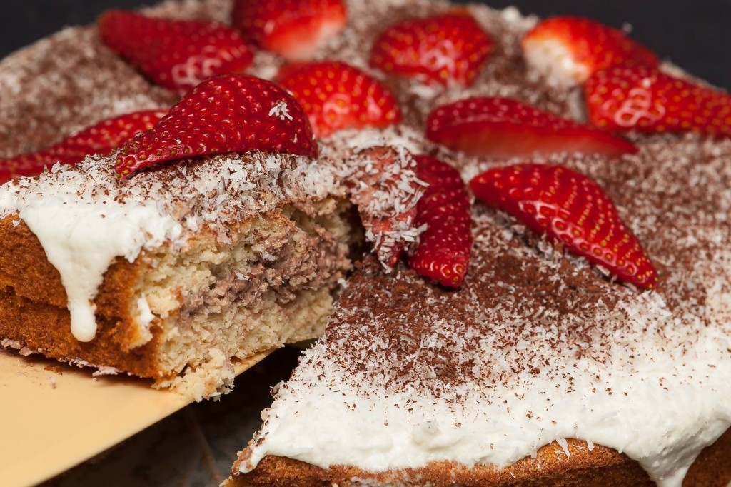 Leny tarta fresas low carb