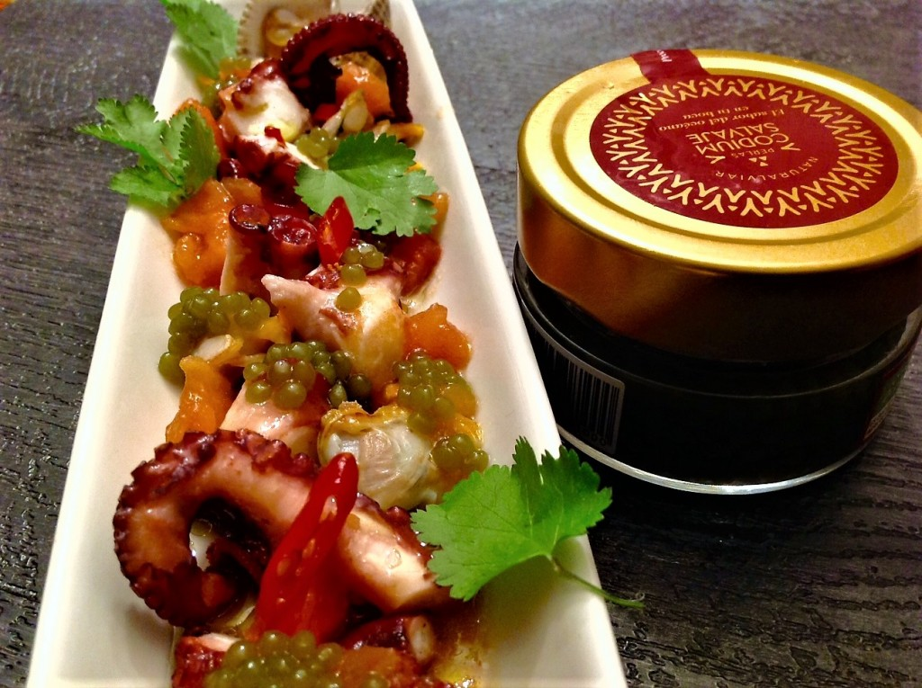 ensa pulpo vinagreta tomate concassé lima chile tabasco