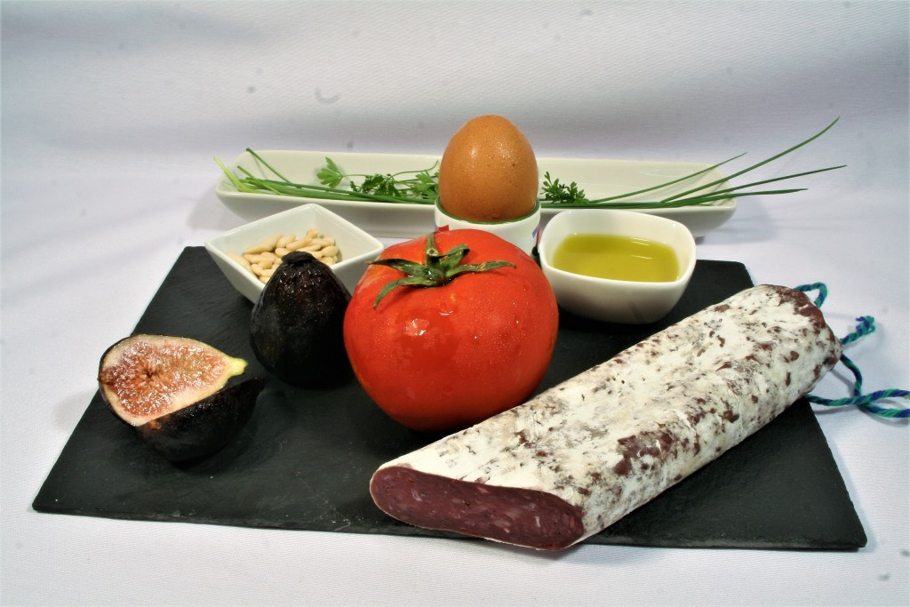 Ingredients tartare de fuet