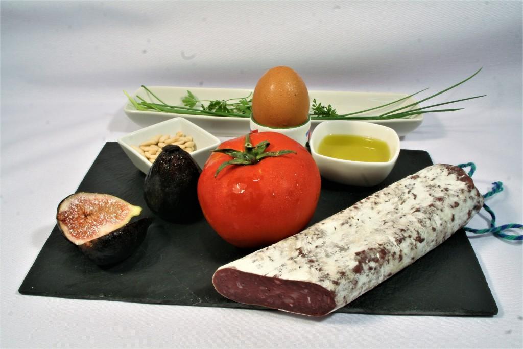 Ingredients tartare de fuet