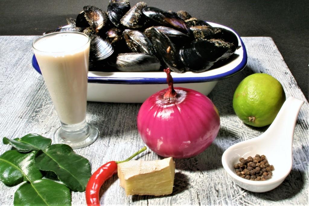 ingredin mejillones thai