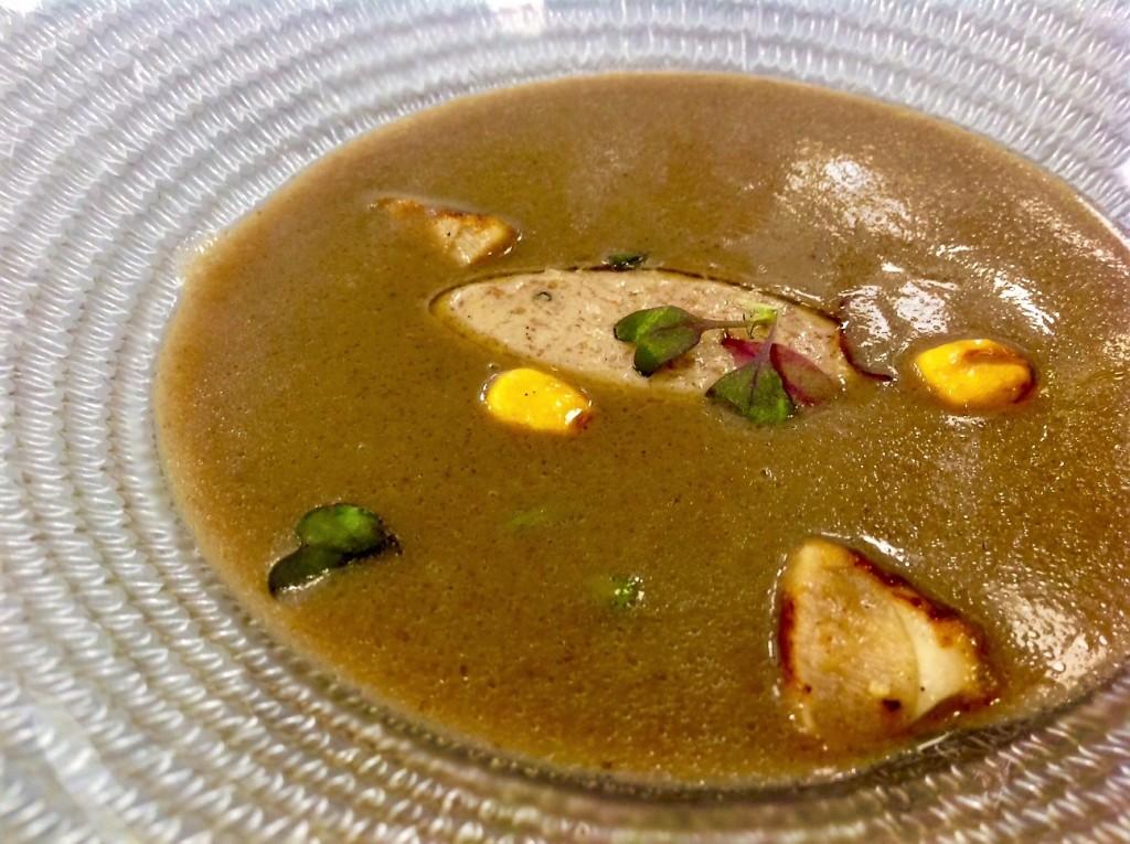 loidi menu de otoño sopa y foie