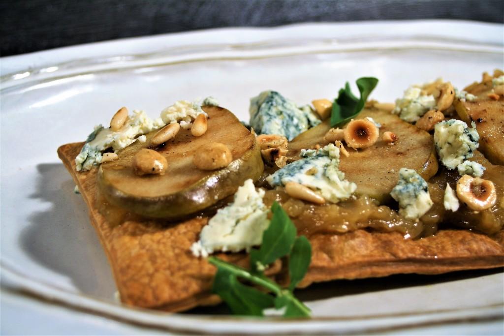 queso azul peras coca