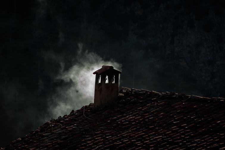 hogar invierno chimenea Toñín
