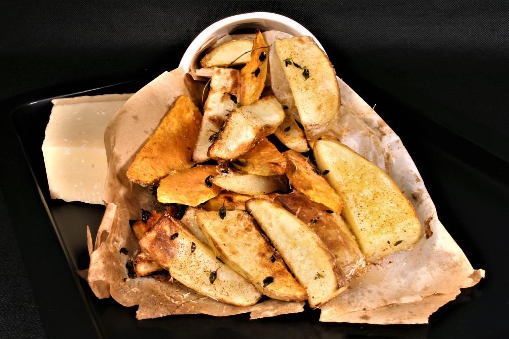 patatas boniatos queso parmesano tomillo pimentón