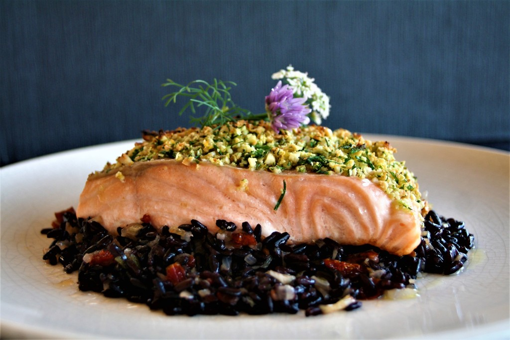 salmon arroz venere