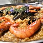 arroz, sepia y mejillones