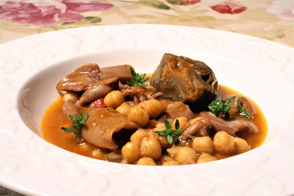 garbanzos marineros chipirones