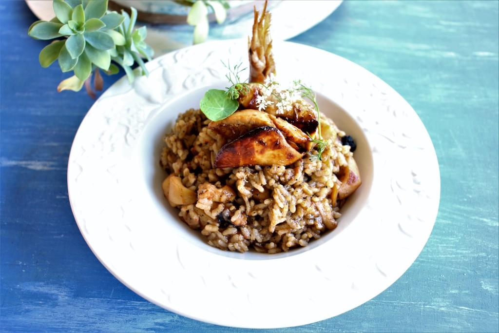 arroz con foie jardin