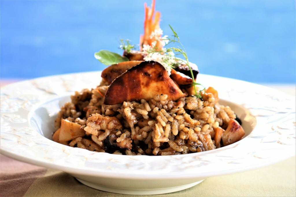 arroz con foie marino ( hígado de rape)