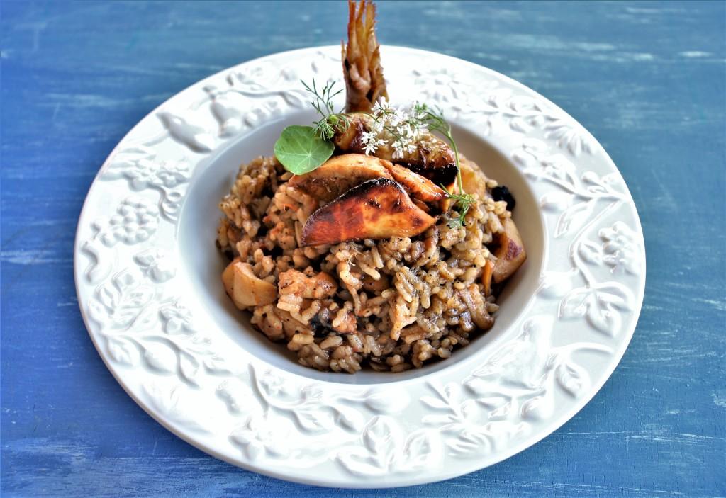 arroz con foie muy bien
