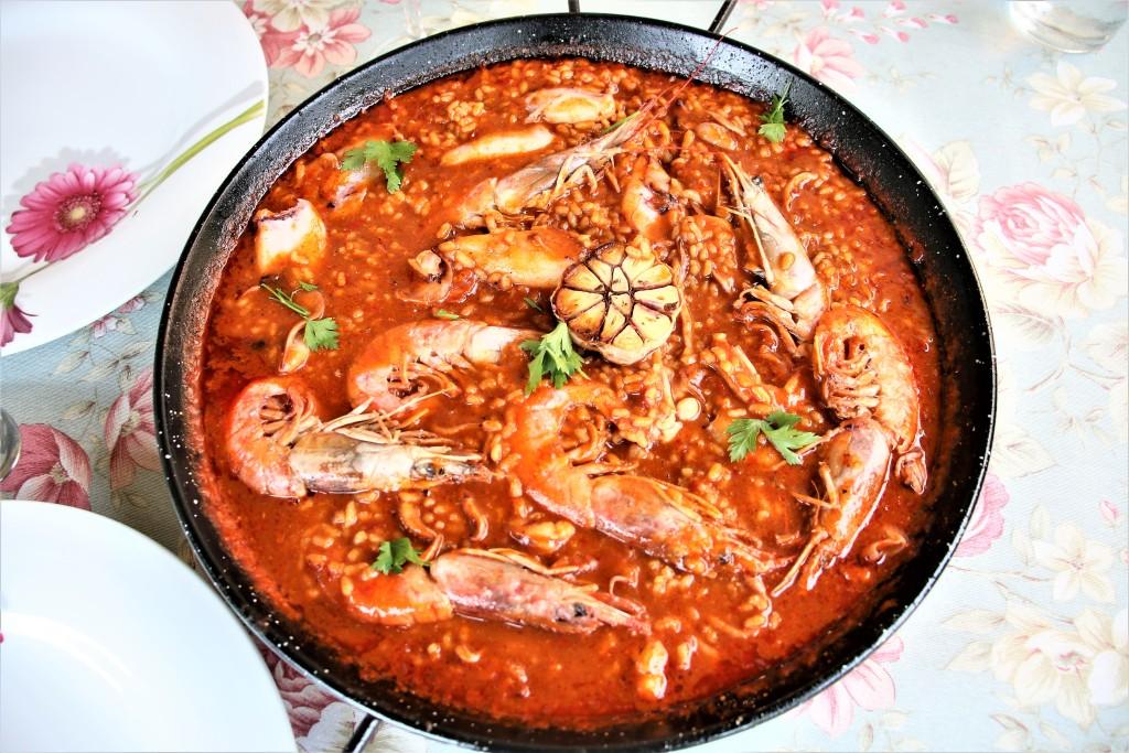 arroz caldoso de salmorreta perfecto