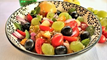 ensalada marroquí con uvas moscatell