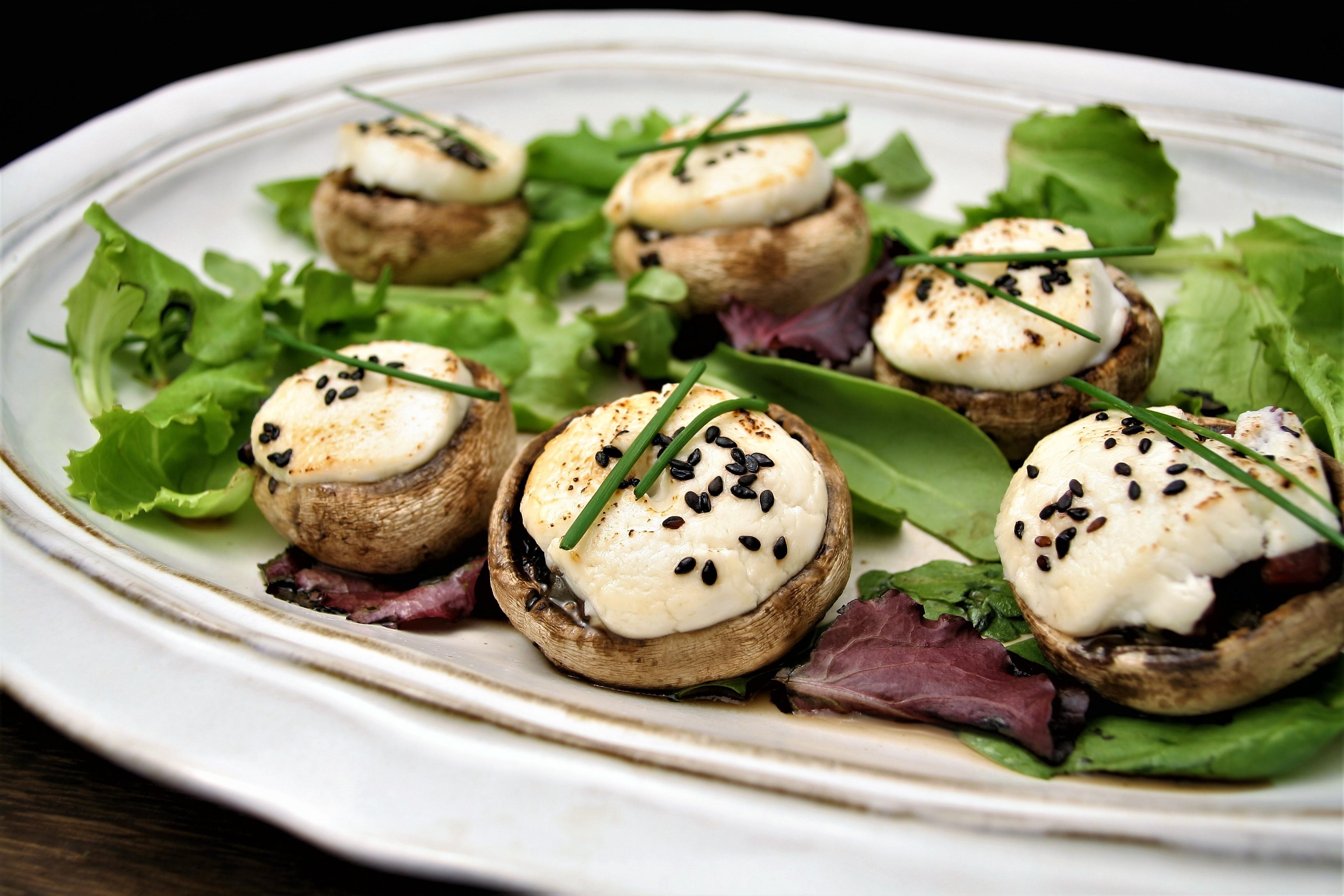receta de champiñones con queso de cabra