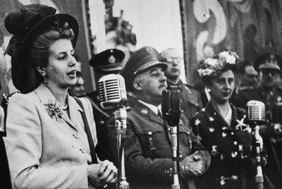 Eva Perón y Franco