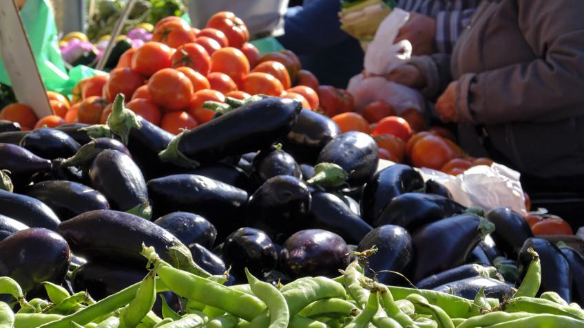Mercado berenjenas Toñín